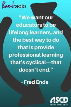 How do we create professional development that sticks? Fred Ende explains on this podcast episode. #profdev