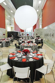 Black, White & Red--Grand Hall; Children's Museum of Pittsburgh