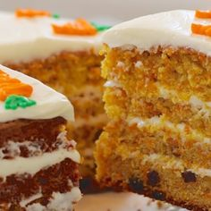 A Delicious Carrot Cake For Afternoon Tea