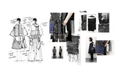 Fashion Sketchbook - fashion collection development with fashion sketches & textile research // Ximon Lee