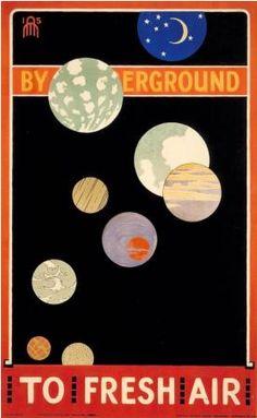 By Maxwell Ashby Armfield, 1915, By Underground to fresh air, London Underground.