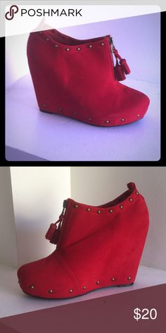 Red wedges Red wedges Shoes Wedges