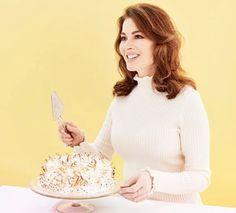 Toasted Marshmallow and Rhubarb Cake