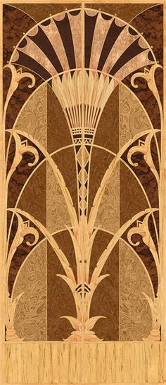 "Digital Doorby decorativeimaging  Wow. Good stuff —> ""Digitally imaged, flat panel, art deco marquetry door face veneer.""  fuckyeahartdeco:    This panel is freely adapted from the masterful art deco elevator doors that grace the Chrysler Bulding in New York City."
