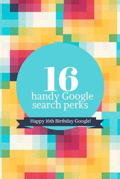 Techode& Pie: 16 handy #Google search perks. Celebrating Google's 16th birthday!