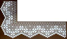 Gallery.ru / Фото #90 - 7676 - ergoxeiro Filet Crochet, Crochet Lace Edging, Crochet Borders, Freeform Crochet, Thread Crochet, Easy Crochet, Crochet Stitches, Knit Crochet, Crochet Patterns