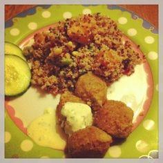 Quinoasalade met falafel van Glutenblij.nl