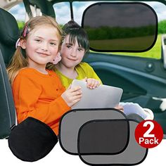 Cozy Greens Car Window Shade 2 pack  Baby Car Sun Shade  UPF50 Protection 97 UV Rays Blocked  FREE Carrying Pouch Car Games eBook  Cling Sunshade for Kids  Lifetime Satisfaction Guarantee ** Check this awesome product by going to the link at the image.