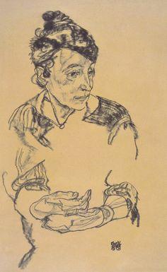 Egon Schiele - Portrait Of Schiele's Mother
