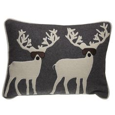 This fun red or grey cushion features a quirky duo of goggled reindeer, perfect for adding a light-hearted touch of festive charm to any room in the home.  Dimensions: 40x30cm  Product Code: CCC005A red £19.99 CCC005b grey £19.99