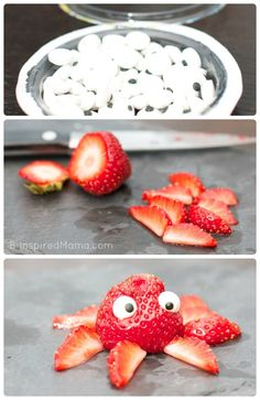 Kids in the Kitchen - Strawberry Octopus - B-Inspired Mama