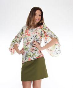 bluza cu imprimeu SS18 Magnolia Ethical Fashion Brands, Magnolia, Floral, Dresses, Atelier, Vestidos, Magnolias, Flowers, Dress