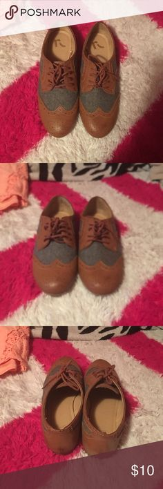 Oxford Shoes Cute Brown Oxfords. I bought them but didn't have anything to wear them with so they've never been worn. Shoes Flats & Loafers