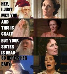 Hey I just met you= I know And this is crazy= What's crazy? You're sister is dead= WHAT???  And here's her baby= NO!!!