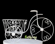 Bicycle Tricycle Wire Iron Planter Stand Green Office Outdoor Home Garden (M)…