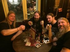 Olavi Mikkonen, Johan Söderberg, Ted Lundström and Johan Hegg Metal Bands, Rock Bands, Amon Amarth, Punk, Gothenburg, Metalhead, Death Metal, Black Metal, Rock N Roll