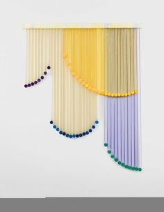 Eva LeWitt's Effervescent Curtains is part of Eva Lewitts Effervescent Curtains Ignant - Teetering on the edge between functional common curtains and abstract art, American artist Eva LeWitt's colorful 'Untitled' curtains are a lesson in whimsical design