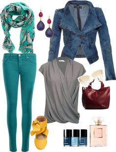 """""""Sky blue and sunshine spring outfit."""" by pixel-azul on Polyvore"""