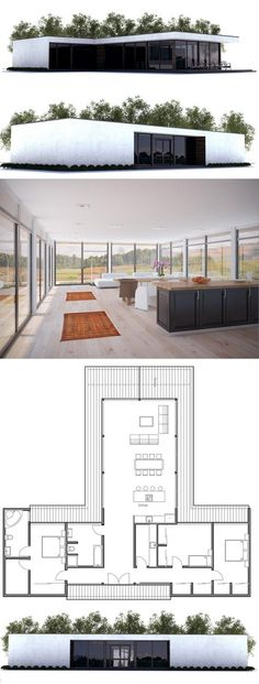 Modern Contemporary Architecture. Floor Plan from ConceptHome.com: