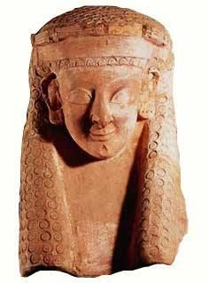 Head of the Punic Goddess Tanit, Terracotta 4th to 3rd century BC - Brought to you by the Historyteller podcast. Click on the image to subscribe! Carthage, Ancient Near East, Ancient Greek, Archaeological Finds, Iron Age, Ancient Civilizations, Deities, Ancient History, Terracotta