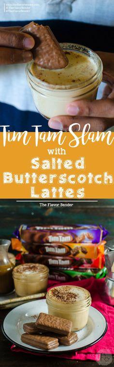 Salted Butterscotch Latte with Tim Tam Slam (Tips for the BEST Tim Tam Slams) - The Flavor Bender , #Bender #Butterscotch #christmasDessertseasyaustralia #flavor #Latte #Salted #Slam #Slams #Tam #Tim #Tips