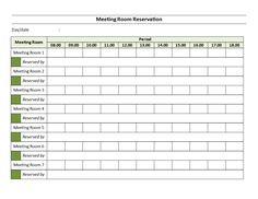 Meeting Room Reservation Sheet Download This Template