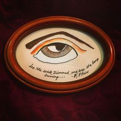 A personal favorite from my Etsy shop https://www.etsy.com/listing/463024203/folk-art-mixed-media-painting-eye-robert
