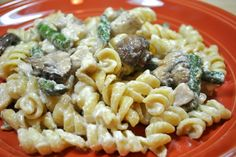 shallots, goat cheese, pasta, goat cheese sauce, alfredo, lactose intolerant, mushrooms, easy, asparagus, chicken, pasta dish, weeknight, 20...