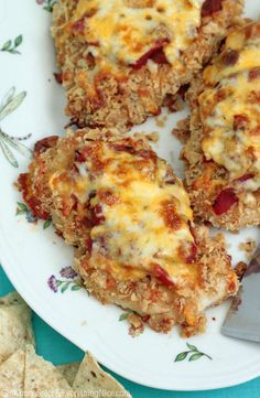 Santa Fe Baked Chicken... topped with salsa and Monterey Jack Cheese~ yummy AND quick~ perfect weeknight dinner
