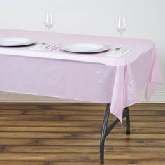 x Pink Thick Disposable Waterproof Vinyl Rectangular Tablecloth Pink Wedding Decorations, Paper Decorations, Baby Shower Decorations, Plastic Table Covers, Plastic Tables, Floral Tablecloth, Plastic Tablecloth, Waterproof Tablecloth, Birthday Party Planner