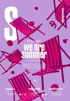 summer poster Birger Jarl - Summer of 2018 - Event branding by creative director Radim Malinic Event Posters, Event Poster Design, Flyer Design, Poster Designs, Event Branding, Jazz Festival, Design Social, Summer Poster, Poster Art