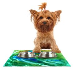 Kess InHouse Rosie Brown 'Hurricane' Feeding Mat for Pet Bowl, 24 by 15-Inch *** Be sure to check out this awesome product. (This is an affiliate link and I receive a commission for the sales) #PetCats