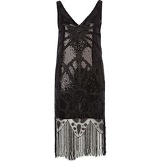 Wesc Black Design Forum sequin flapper dress (375 BRL) ❤ liked on Polyvore featuring dresses, vintage, vestidos, 1920's, black cocktail dresses, vintage 1920s dresses, vintage cocktail dress, roaring twenties flapper dresses and vintage black dress