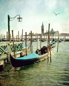 Travel photography, Venice, Italy photography, Europe, Gondola photo, home decor, landscape photography, blue, water, green, teal decor