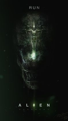 "ArtStation - ""Run"" - Alien Covenant Fan art Poster, Jun Seong Park"