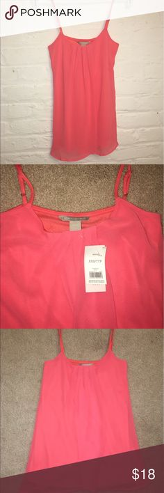NWT Coral Shirt Banana Republic XXSP Very pretty shirt from Banana Republic in size XXSP. Fit is perfect for someone around a size 0-2. Banana Republic Tops Camisoles