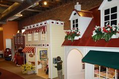 my husband will build this for our kids some day! Inside Playhouse, Kids Indoor Playhouse, Build A Playhouse, Playhouse Interior, Childcare Rooms, Preschool Rooms, Kindergarten Design, Dream Rooms, Kid Spaces