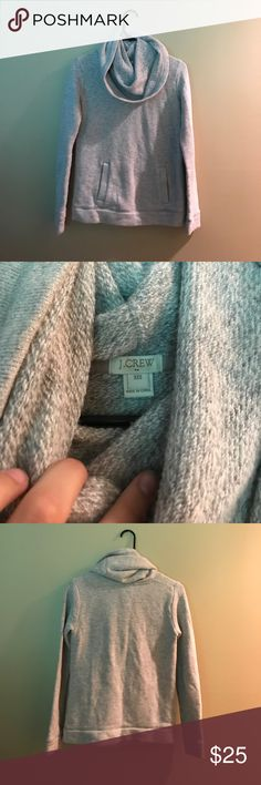 J crew pullover sweatshirt with cowl neck detail Top quality pullover with cowl neck detail, worn only a few times J. Crew Tops Sweatshirts & Hoodies