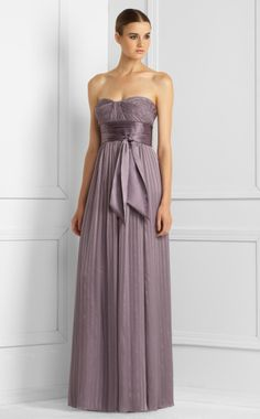 bcbg wisteria pleated silk gown