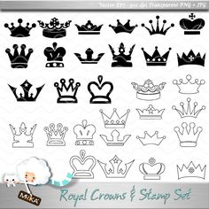 Royal Crowns and Stamps