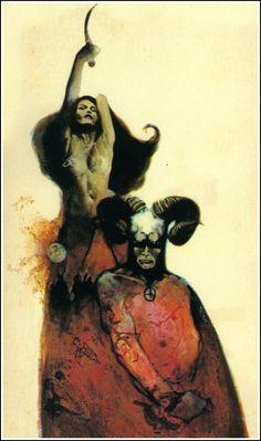 Jeff Jones, The Guardians The Curse of Rathlaw by Peter Saxon (Ross Richards) Pulp Fiction Art, Science Fiction Books, Pulp Art, Horror Books, Sci Fi Books, Horror Art, Frank Frazetta, Fantasy Book Covers, Book Cover Art