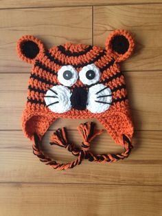 A personal favorite from my Etsy shop https://www.etsy.com/listing/206234404/tiger-hat-multiple-color-options