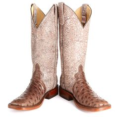 BootDaddy Collection with Anderson Bean Brown Full Quill Ostrich Cowgirl Boots|All Womens Western Boots