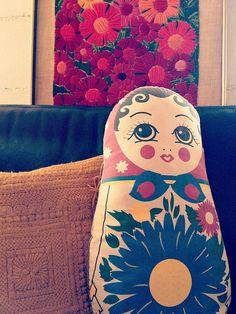 matrioshka Russian Style, Russian Fashion, Kinds Of Fabric, Matryoshka Doll, Cushions, Pillows, Wooden Dolls, Felt Art, Vintage Bohemian