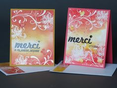 La magie des étampes - Cartes - Scrapbooking - Stampin'Up, everything eleanor Stampin Up, Tampons, Card Making, Greeting Cards, Watercolor, Album, Texture, Bird, Youtube