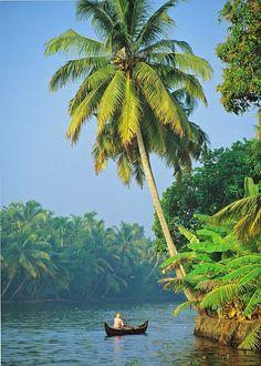 Backwaters of Kerala , India