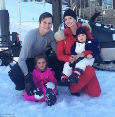 Jet setters: Last month, Ivanka and her husband Jared Kushner took their children skiing in Aspen, Colorado