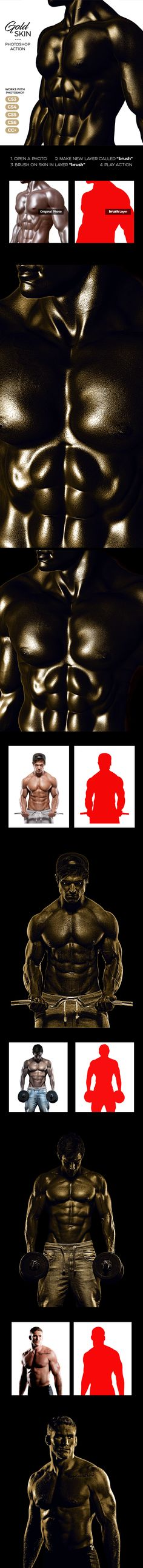 Gold Skin Photoshop Action - Photo Effects Actions