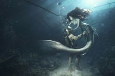 This render is so realistic that you might think mermaids are real
