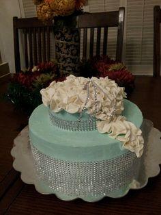 Tiffany Blue Bling Cake